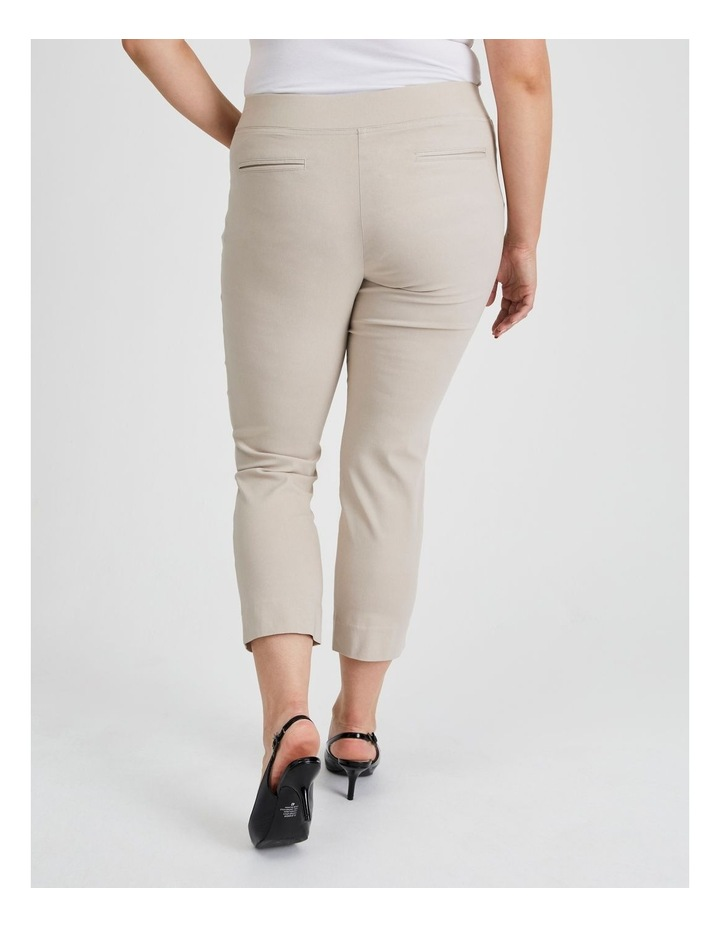 Essential Stretch Crop Pant in Mid Stone image 4