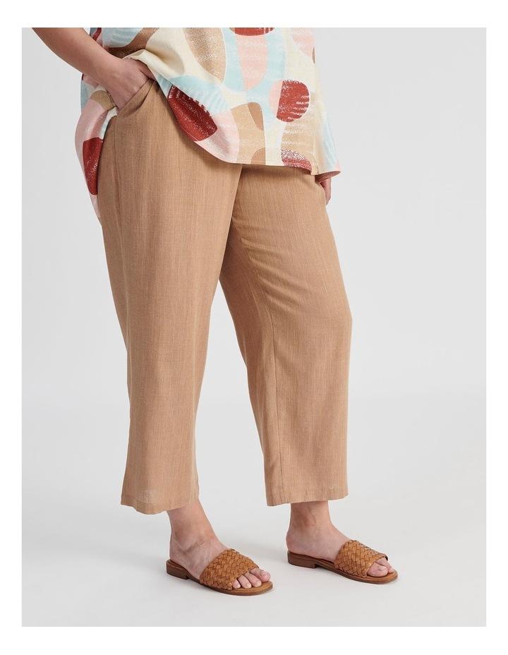 Rib Waist Wide Leg Cropped Pant-Neutral Cross Dye image 2
