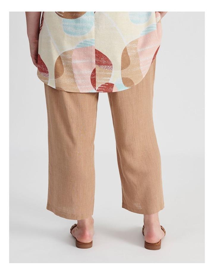 Rib Waist Wide Leg Cropped Pant-Neutral Cross Dye image 3