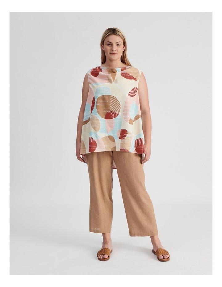 Rib Waist Wide Leg Cropped Pant-Neutral Cross Dye image 4