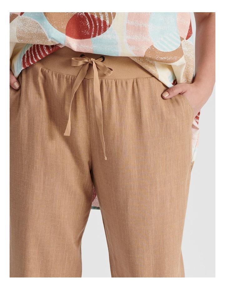 Rib Waist Wide Leg Cropped Pant-Neutral Cross Dye image 5