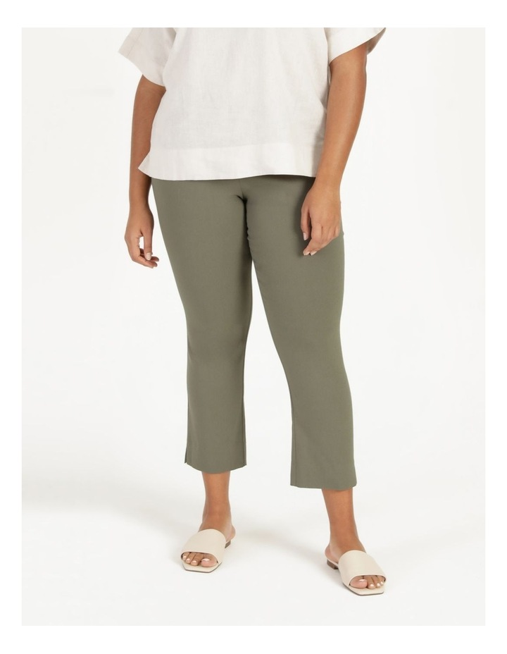 Wardrobe Staple Stretch Crop Pant Khaki image 2