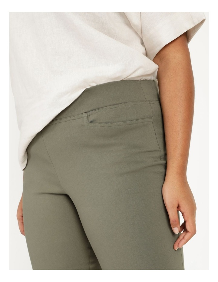 Wardrobe Staple Stretch Crop Pant Khaki image 6