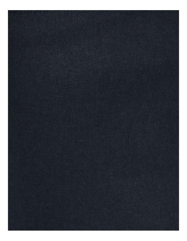 Linen Blend Straight Leg Pant Navy image 7