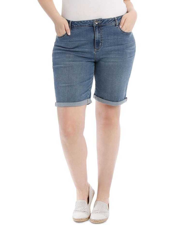 Stretch Denim Short-Mid Indigo image 1