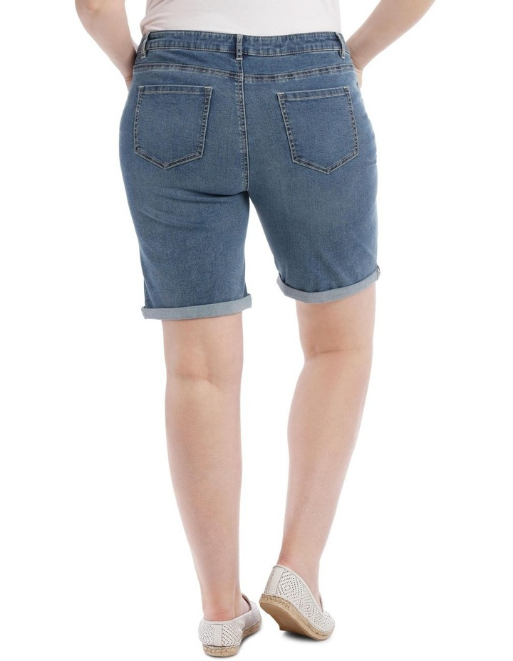 Stretch Denim Short-Mid Indigo image 3