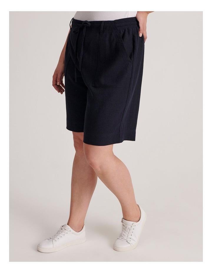 Linen Blend Short in French Navy image 2