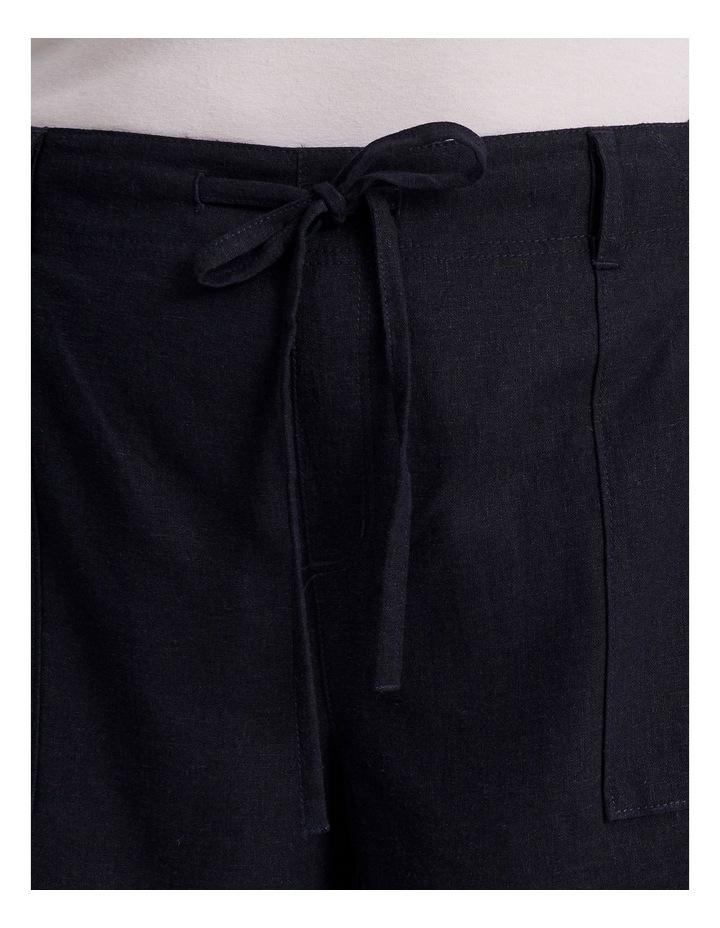 Linen Blend Short in French Navy image 5