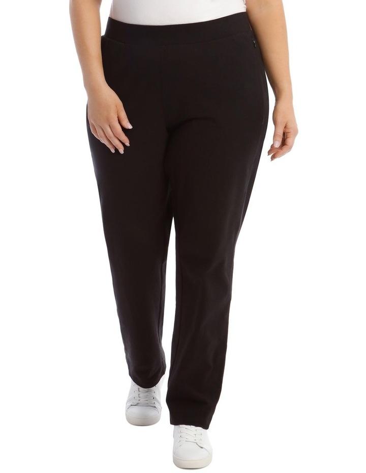 Black Slim Leg Trackpant image 1
