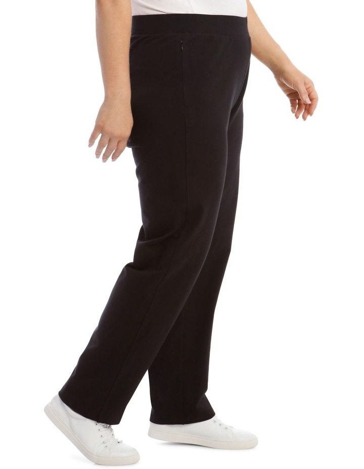 Black Slim Leg Trackpant image 2