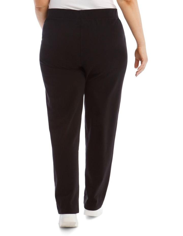 Black Slim Leg Trackpant image 3