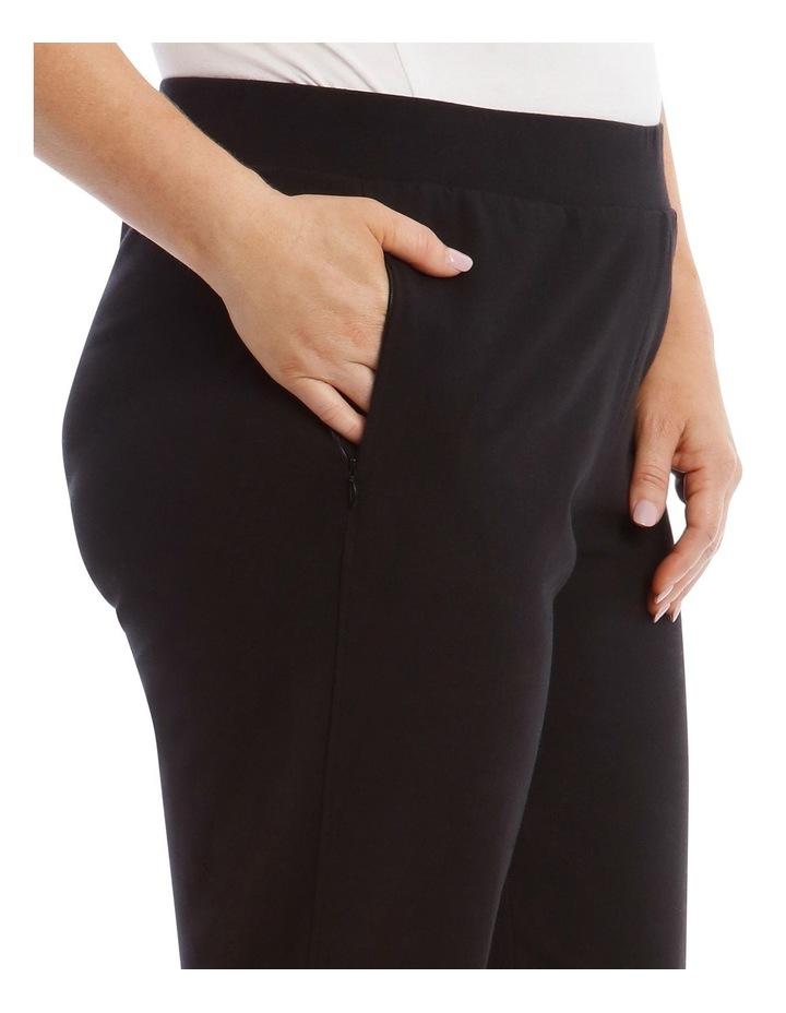 Black Slim Leg Trackpant image 4