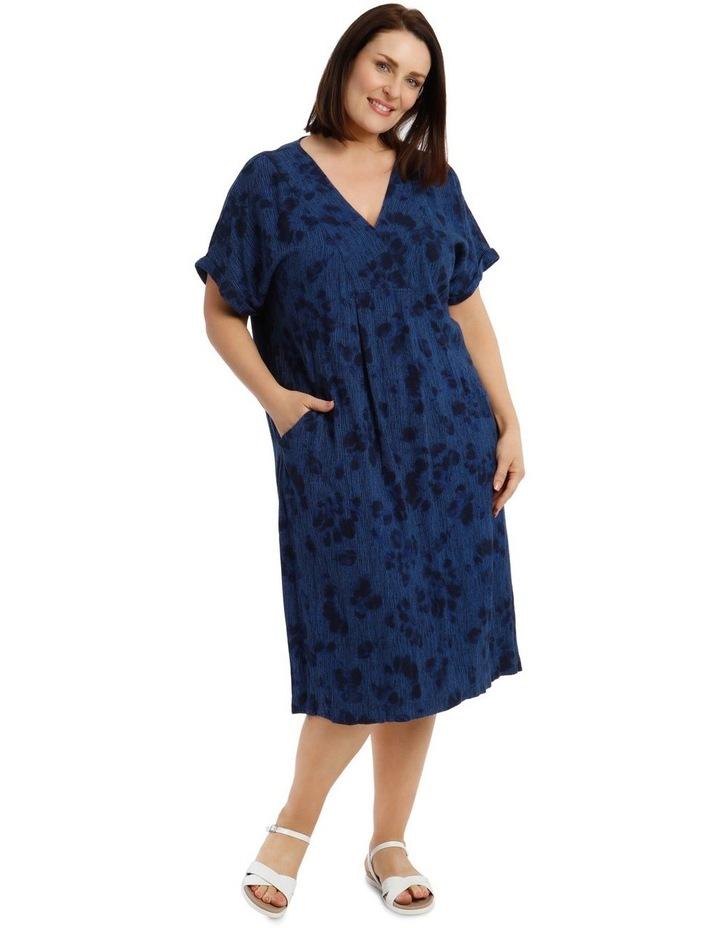 V-Neck Panel Magyar Sleeve Dress With Pocket image 1