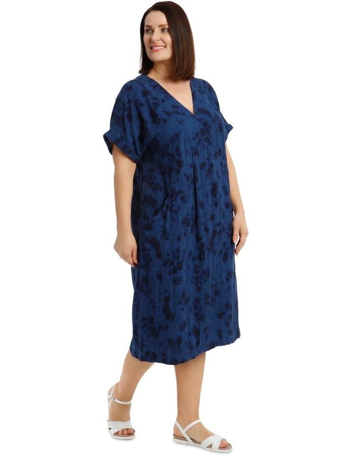 V-Neck Panel Magyar Sleeve Dress With Pocket image 2