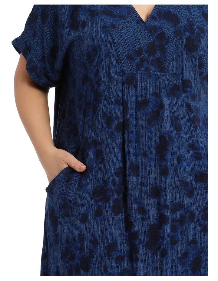 V-Neck Panel Magyar Sleeve Dress With Pocket image 4
