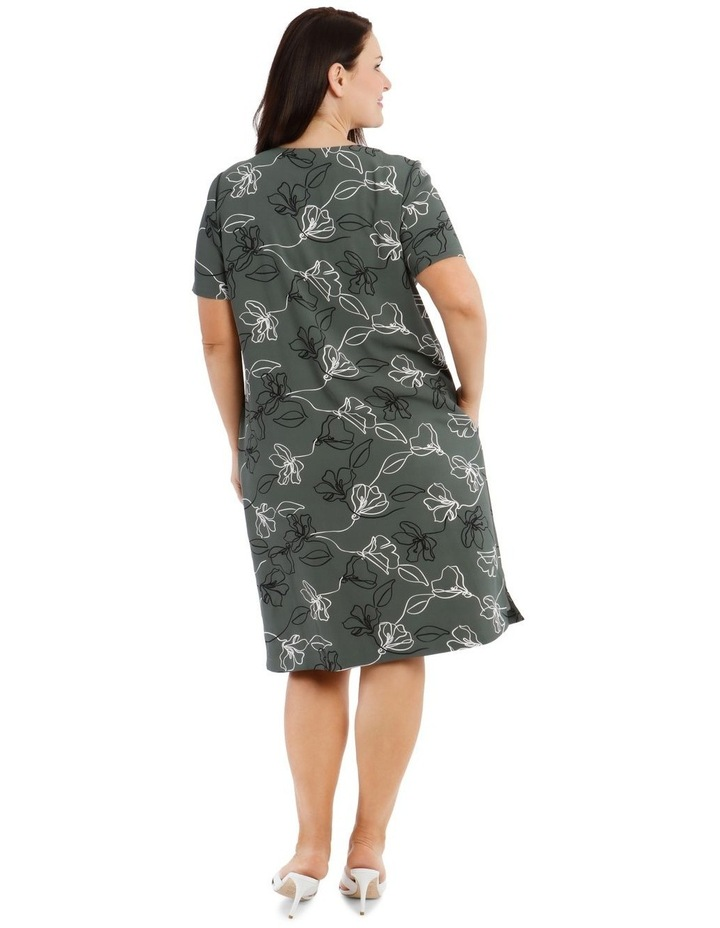 Extended Sleeve Dress With Split Neck image 3