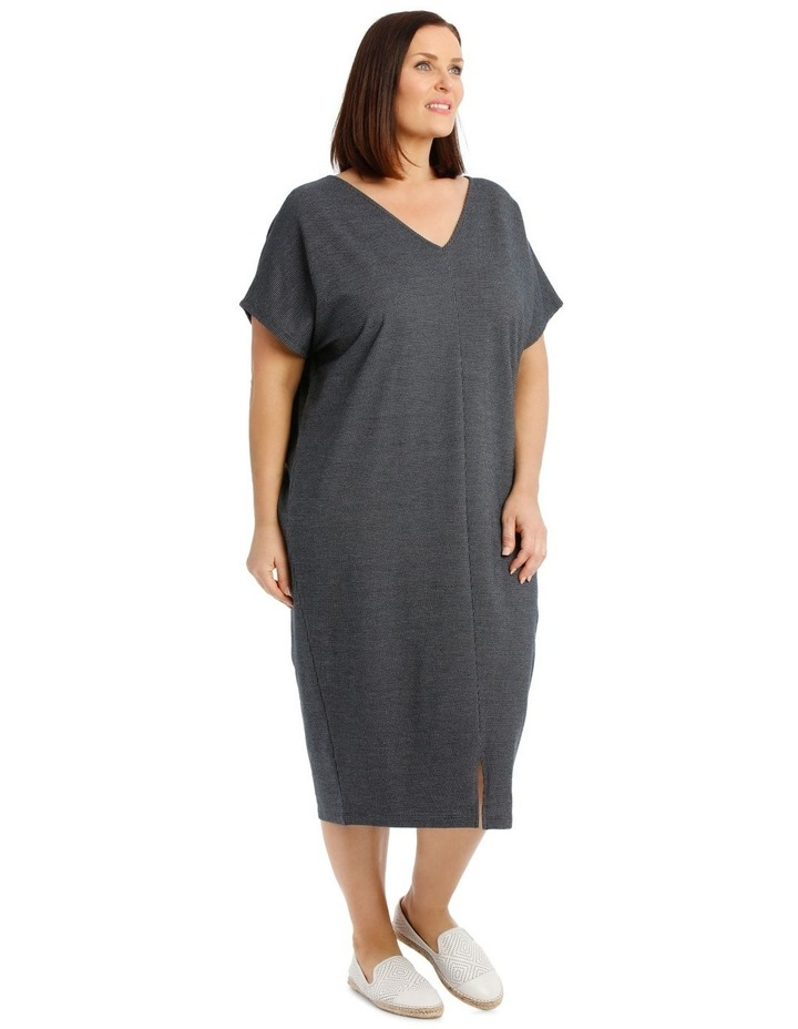 Extended Short Sleeve V-Neck Knit Dress image 2