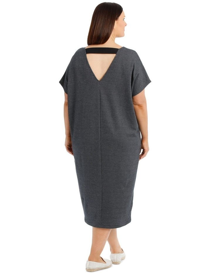 Extended Short Sleeve V-Neck Knit Dress image 3