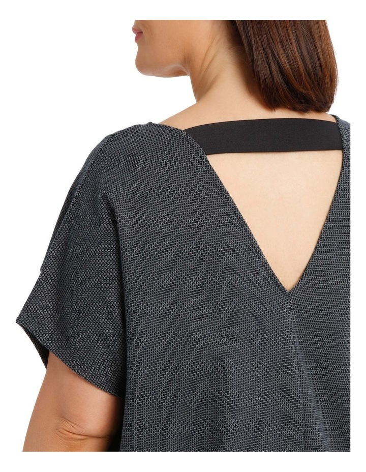 Extended Short Sleeve V-Neck Knit Dress image 4