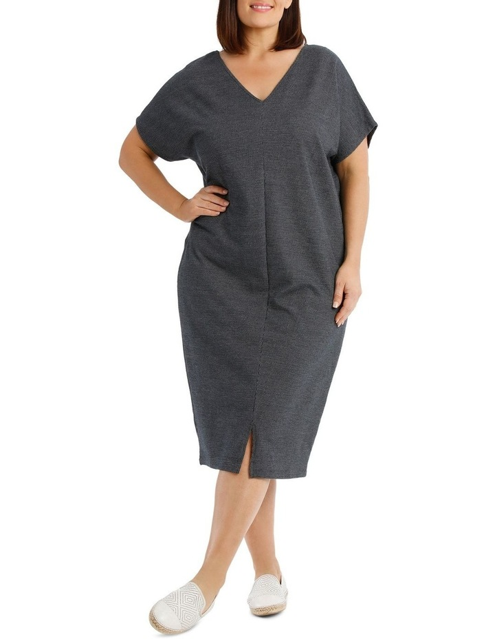 Extended Short Sleeve V-Neck Knit Dress image 5