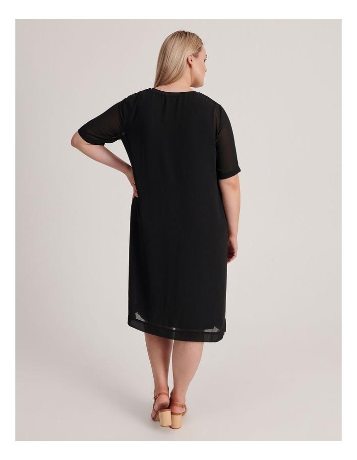 Short Sleeve Sheer Dress With Lining image 3
