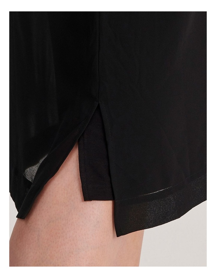 Short Sleeve Sheer Dress With Lining image 5