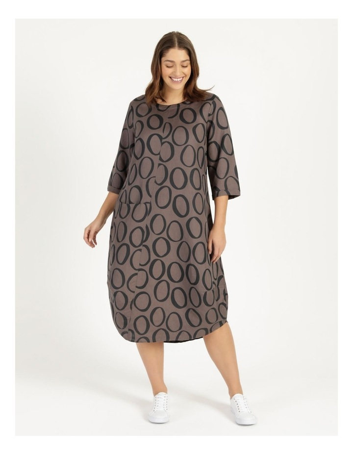 3/4 Sleeve Asymmetrical Front Dress With Pocket image 1