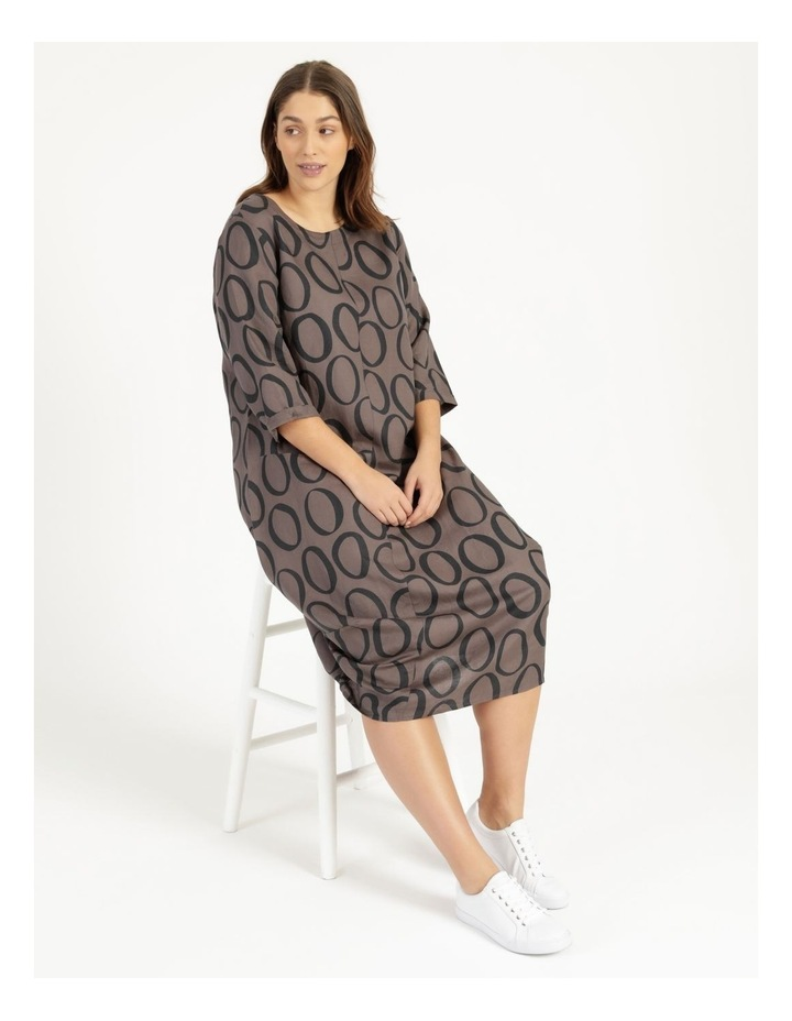 3/4 Sleeve Asymmetrical Front Dress With Pocket image 2