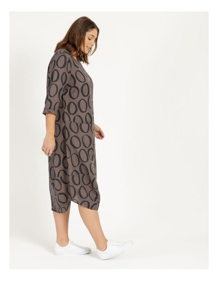 3/4 Sleeve Asymmetrical Front Dress With Pocket image 3