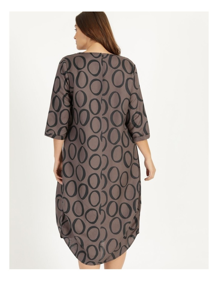 3/4 Sleeve Asymmetrical Front Dress With Pocket image 4