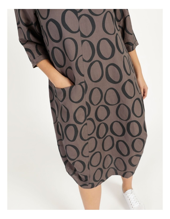 3/4 Sleeve Asymmetrical Front Dress With Pocket image 5