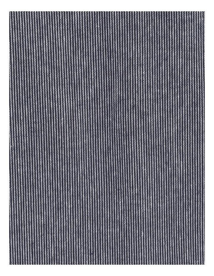 Short Sleeve Split Neck Dress With Front Tuck Navy/White Stripe image 7