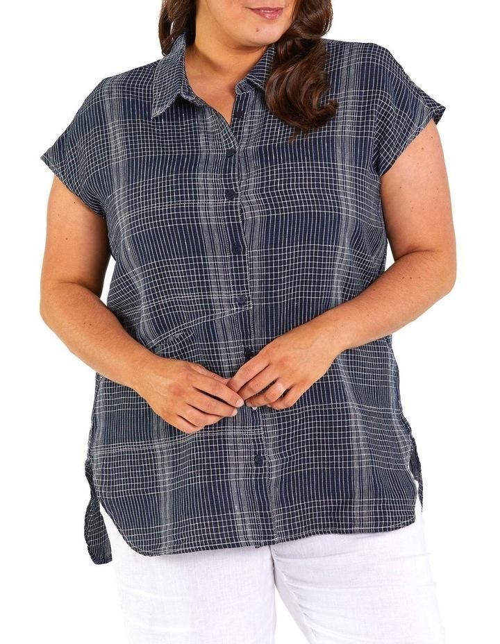 Spliced Check Linen Tunic image 1