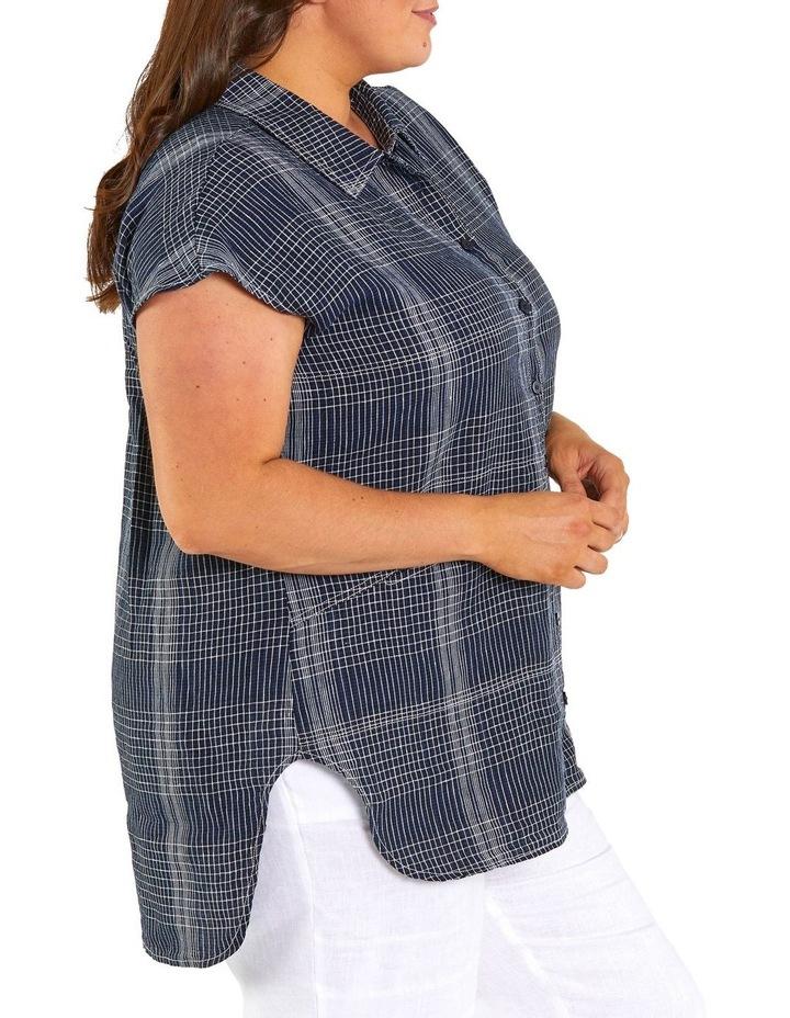Spliced Check Linen Tunic image 2