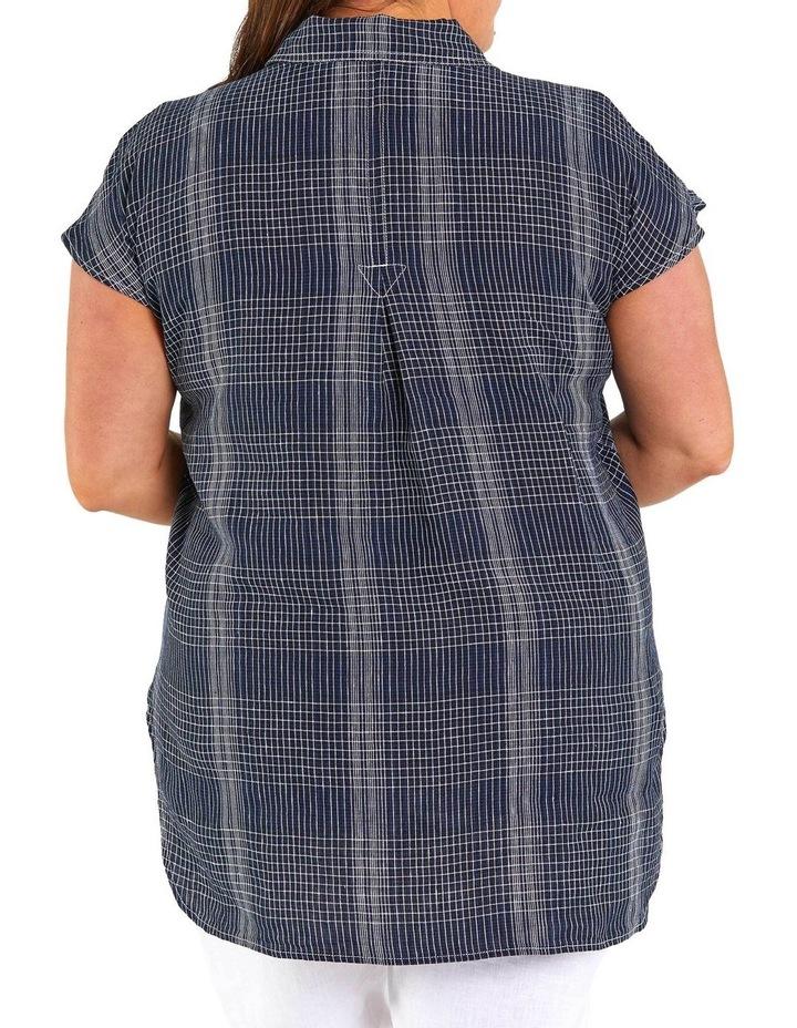 Spliced Check Linen Tunic image 3