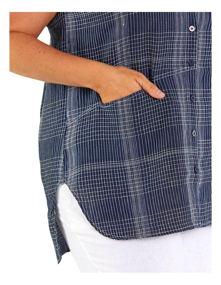 Spliced Check Linen Tunic image 4