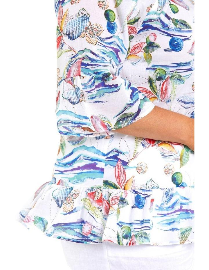Watercoloured Print Blouse image 4