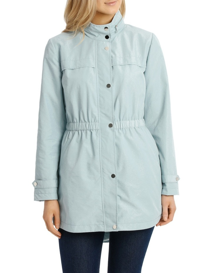 Soft Ruch Waist Long Sleeve Anorak image 1