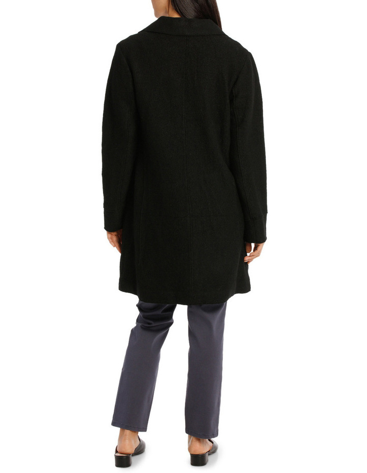 Boiled Wool Longline Long Sleeve Coat image 3