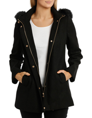 Regatta - Fur Trim Long Sleeve Coat