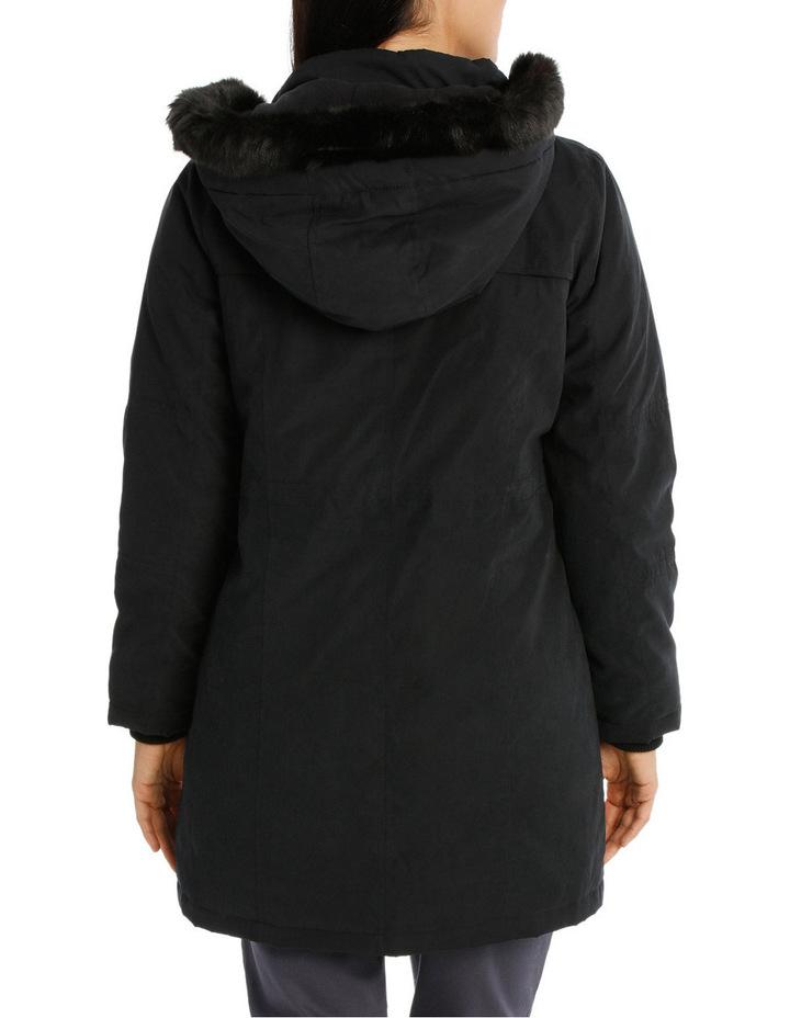 Soft Fur Trim Long Sleeve Jacket image 3