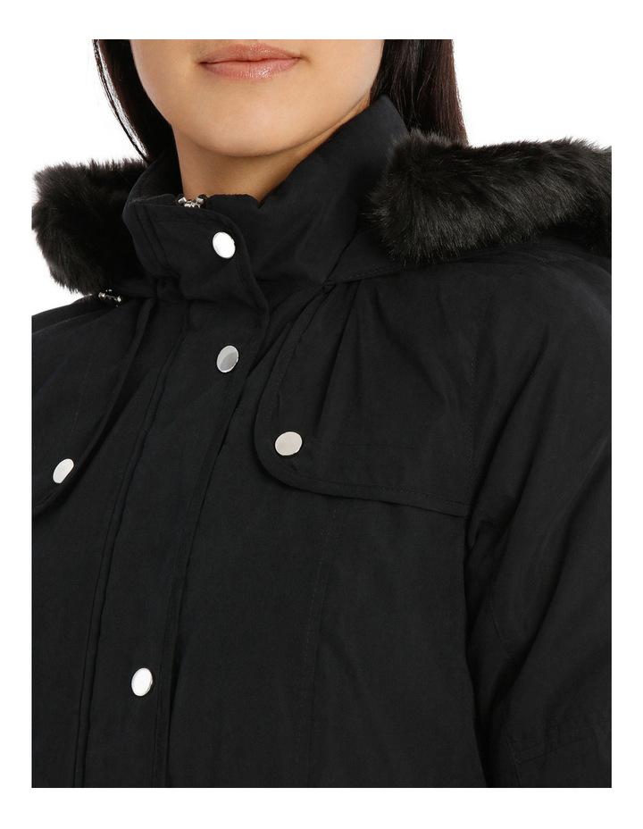Soft Fur Trim Long Sleeve Jacket image 4