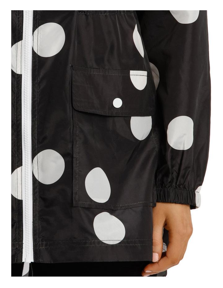 Lightweight Long Sleeve Jacket Polka Print image 4