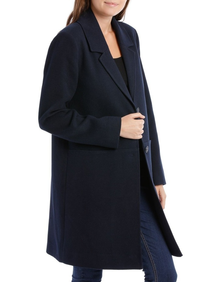 Rever Collar Coat With Hip Seam Pockets image 3