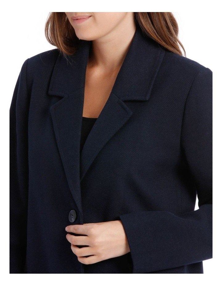 Rever Collar Coat With Hip Seam Pockets image 7