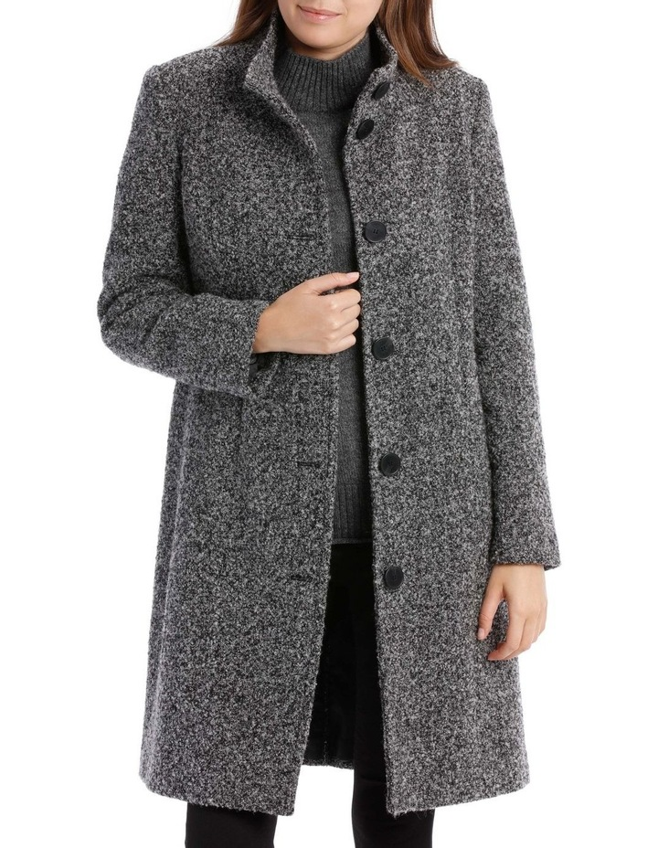 Stand Collar Textured Coat image 1