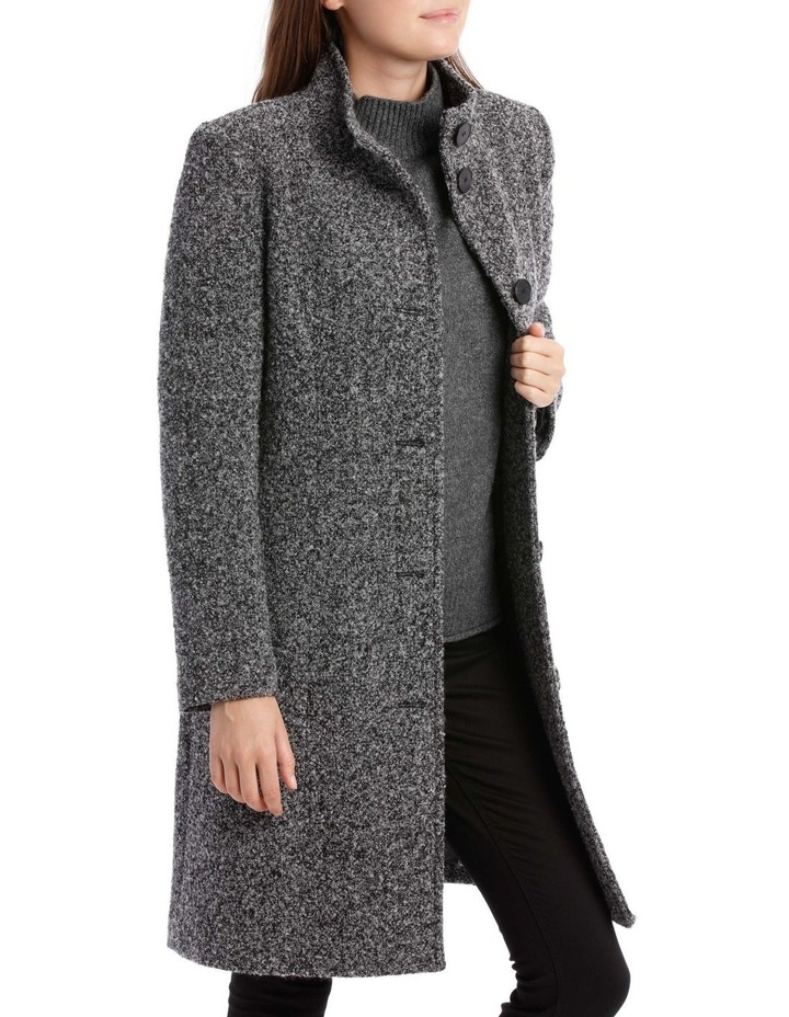 Stand Collar Textured Coat image 3