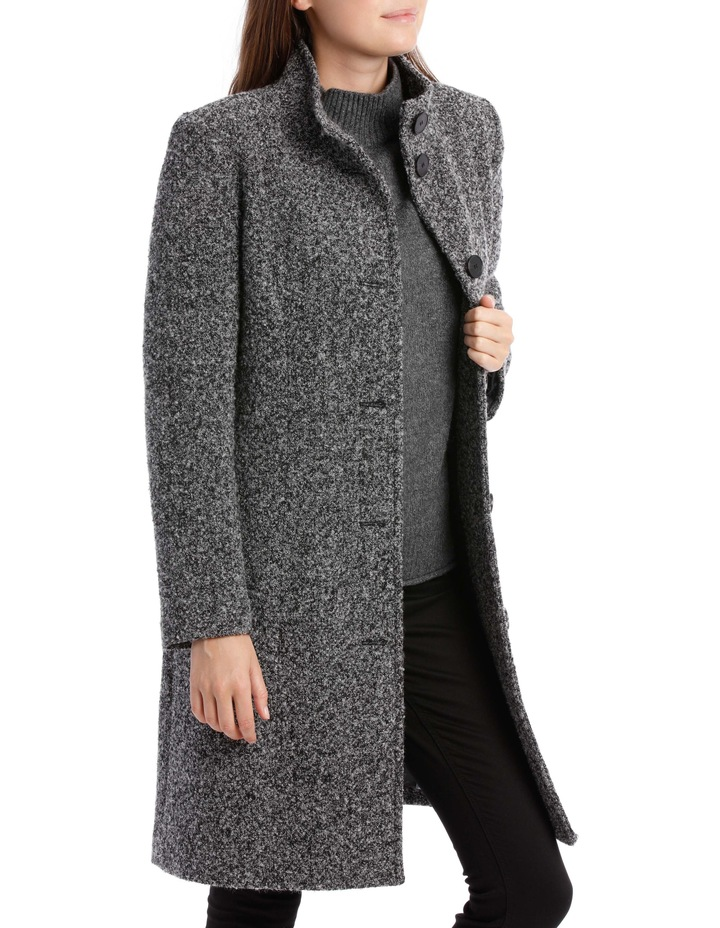 Stand Collar Textured Coat image 4