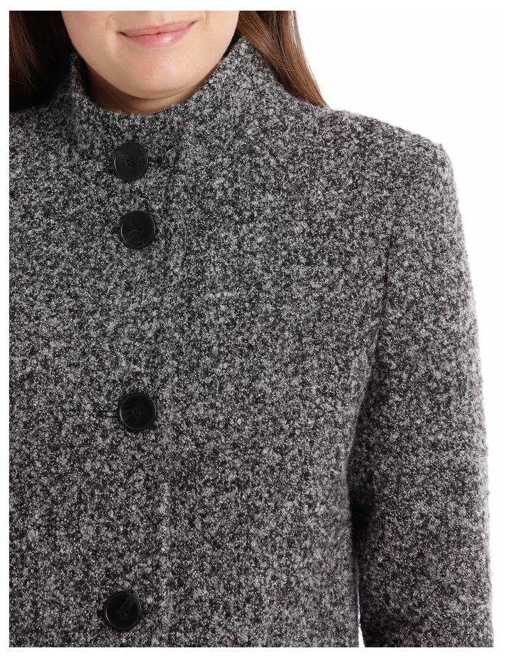 Stand Collar Textured Coat image 8