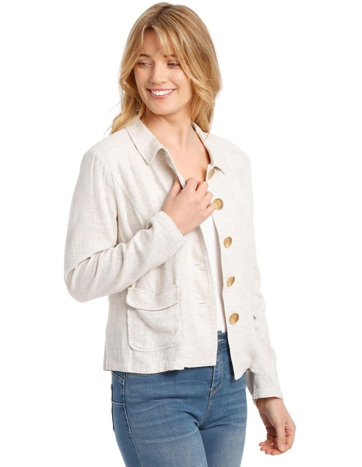 Button Through Short Jacket With Collar & Pockets image 2